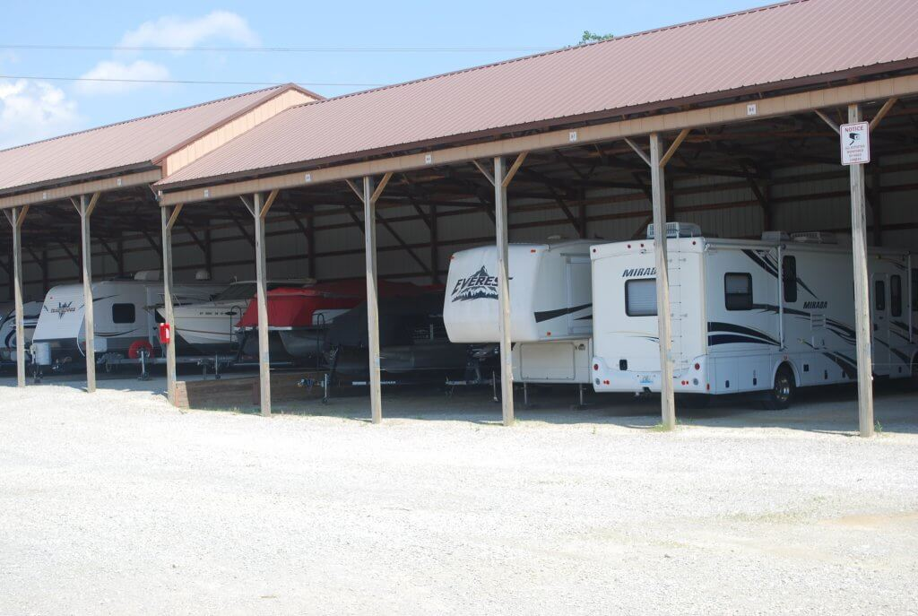 Covered Storage for Vehicles, Boats, Trailers, and RVs