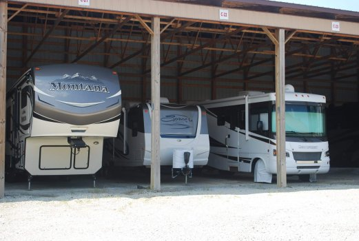 Covered storage for rv's, boats & vehicles